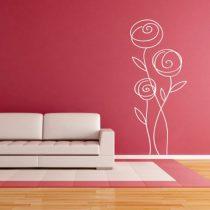 Stenska nalepka Abstraktna roža 2