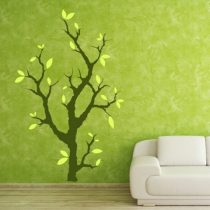 Stenska nalepka Drevo z listi
