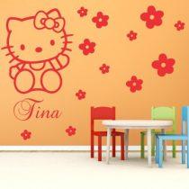 Stenska nalepka Hello Kitty z imenom