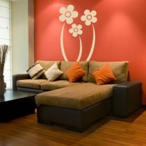 Stenska nalepka Tri rože