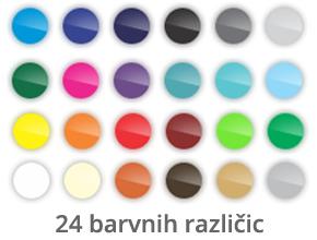 24 barvnih različic